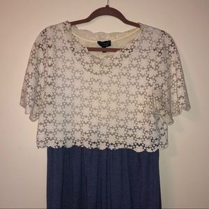 TOPSHOP Cotton Lace Dress
